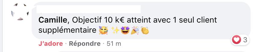 10K€ atteint Christelle